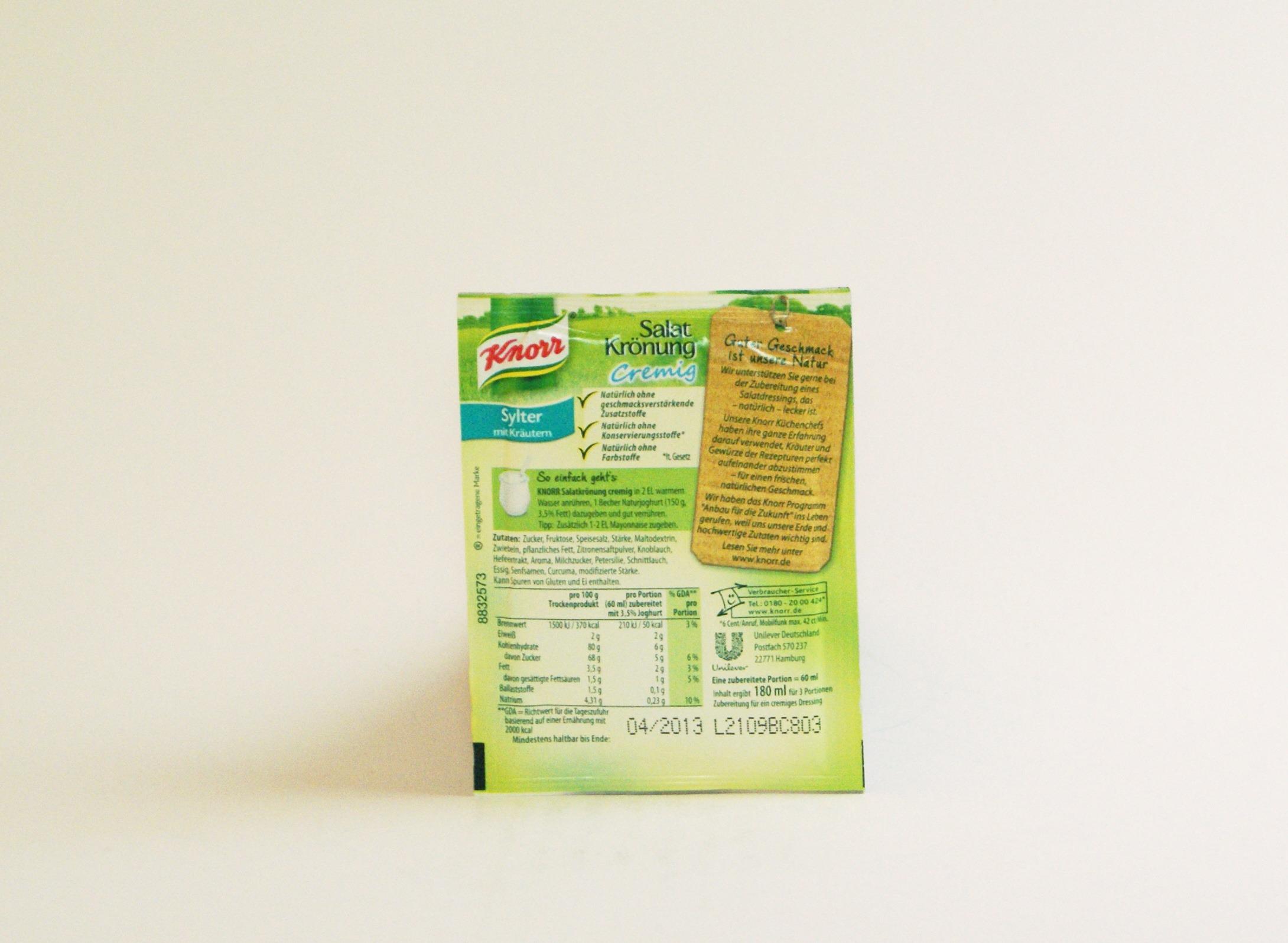 Knorr Salatkrönung Cremig Sylter mit Kräutern