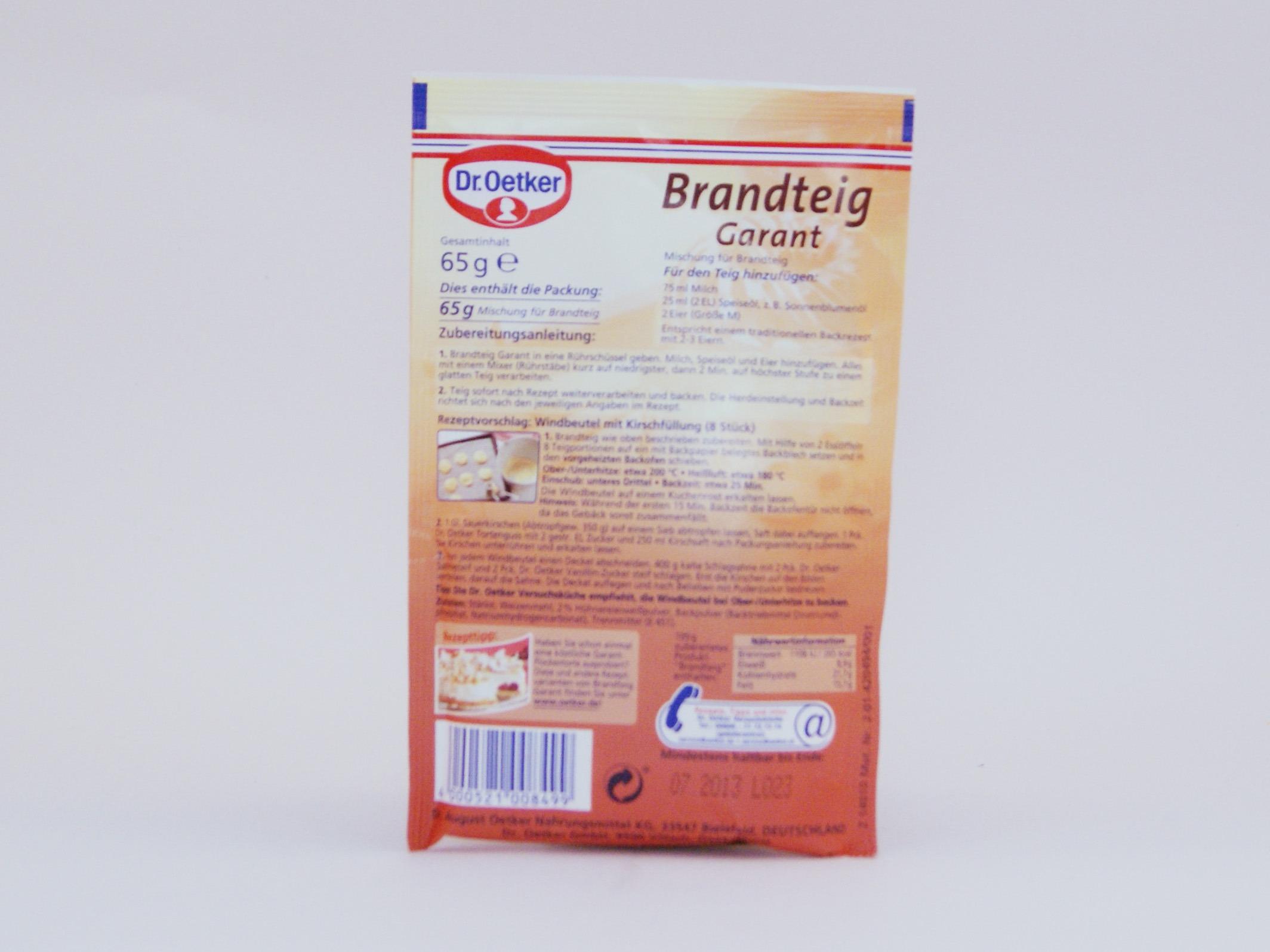 Dr. Oetker Brandteig Garant