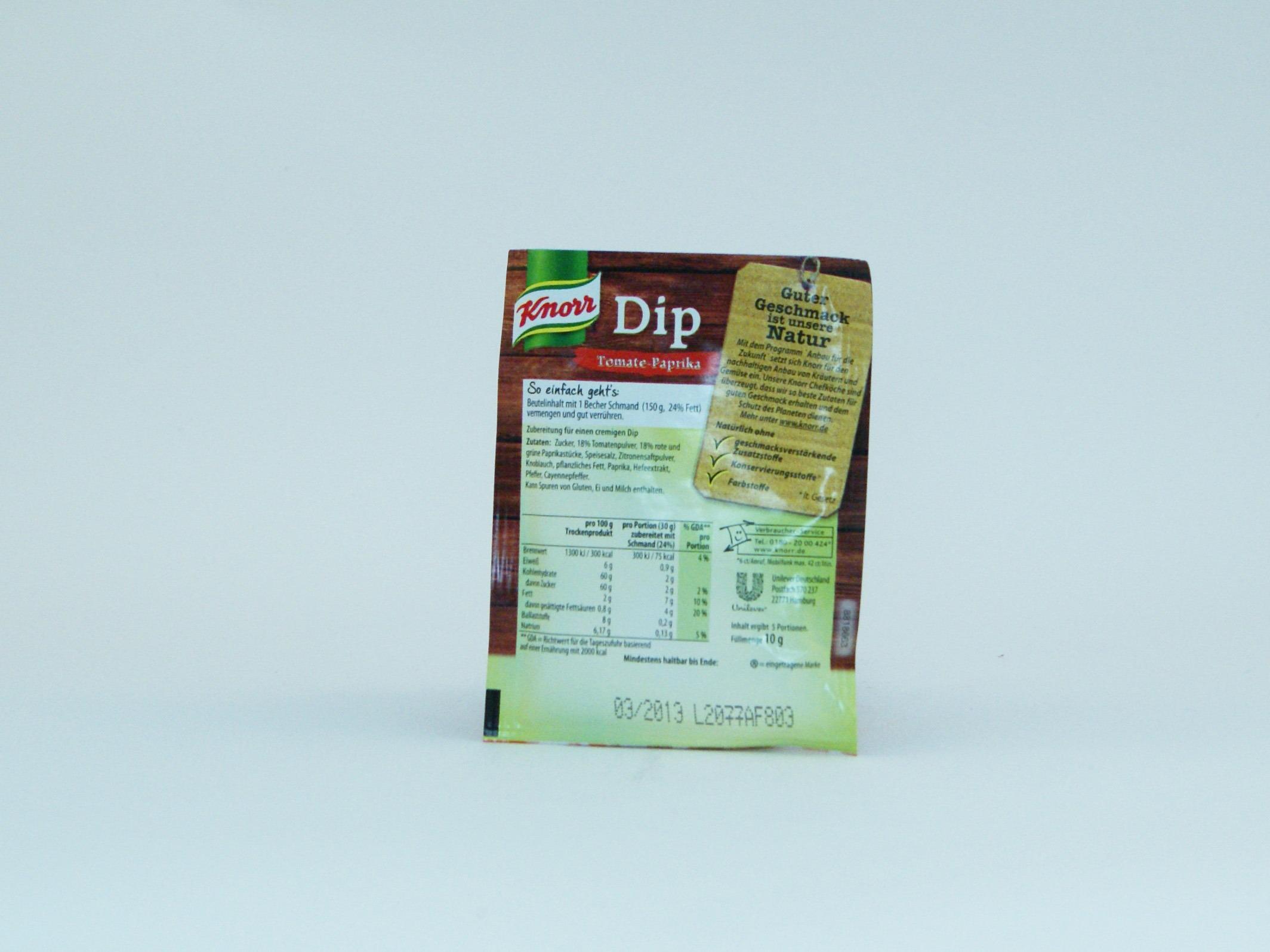 Knorr Dip Tomate-Paprika