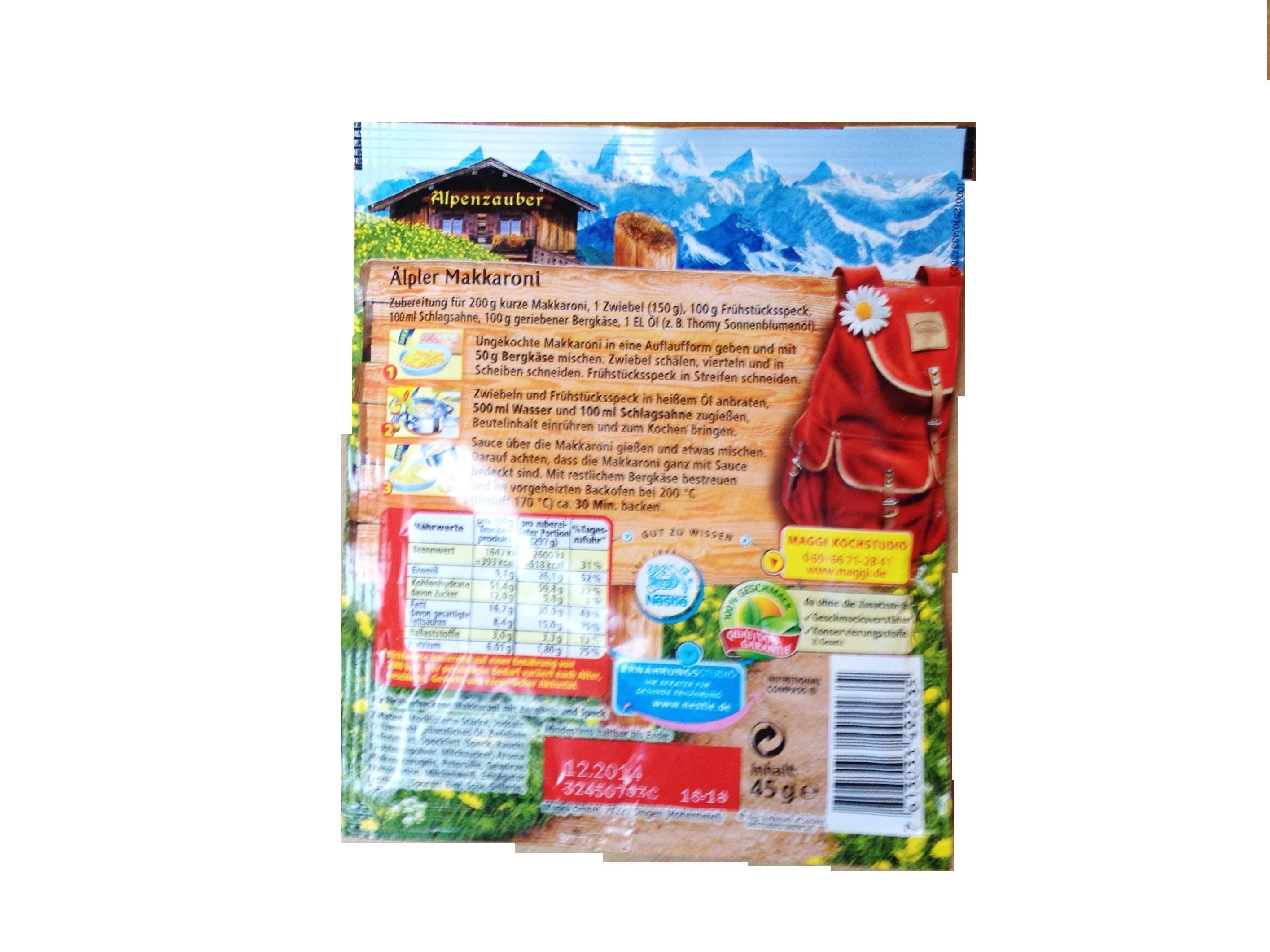 Maggi Fix&Frisch Alpenzauber Älpler Makkaroni