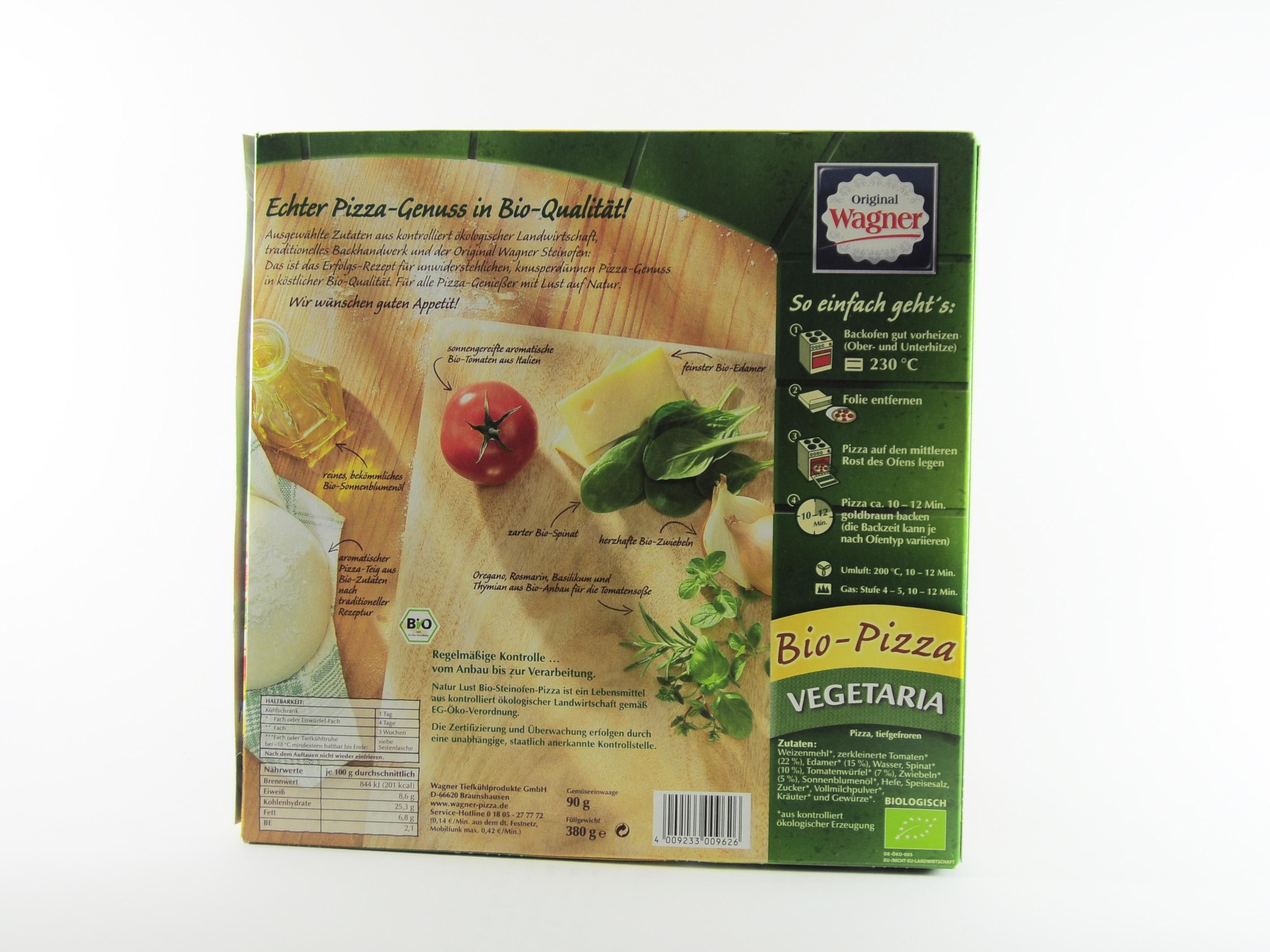 Wagner Natur Lust Bio Pizza