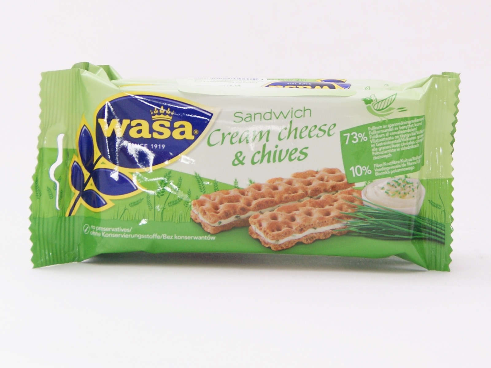 Wasa Sandwich Cream Cheese and Olives