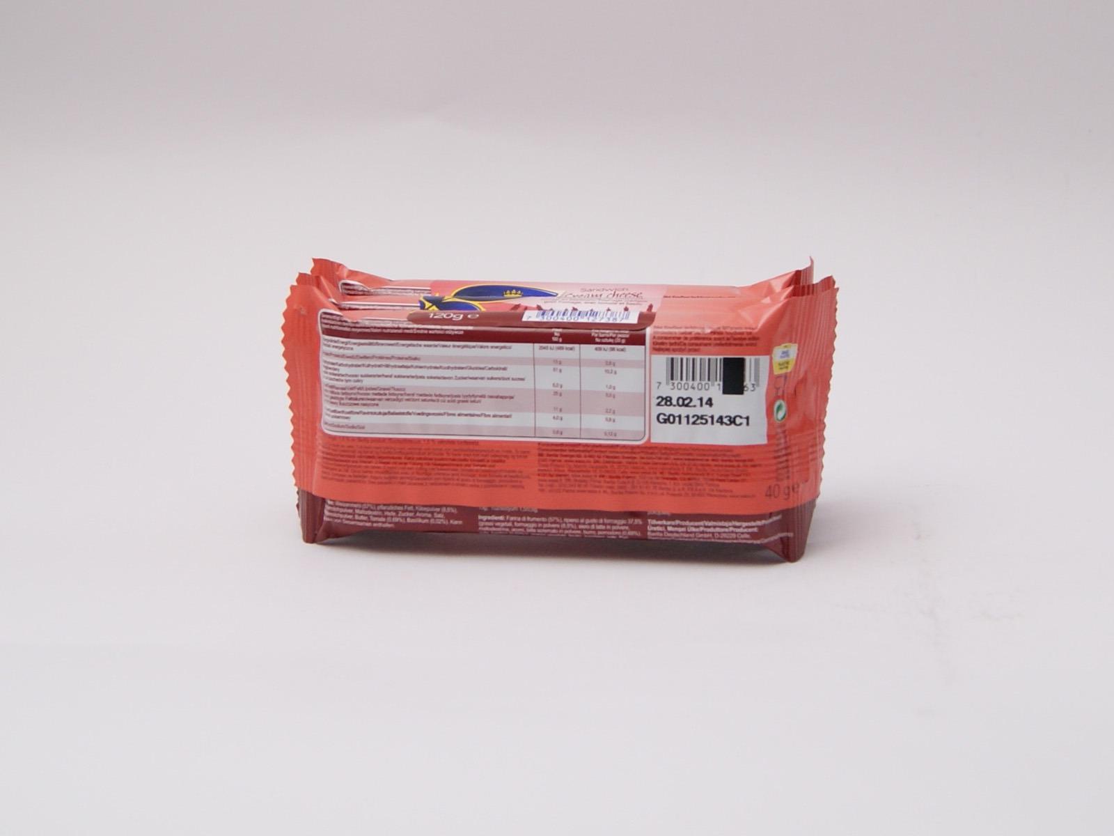 Wasa Sandwich Käse, Tomate und Basilikum