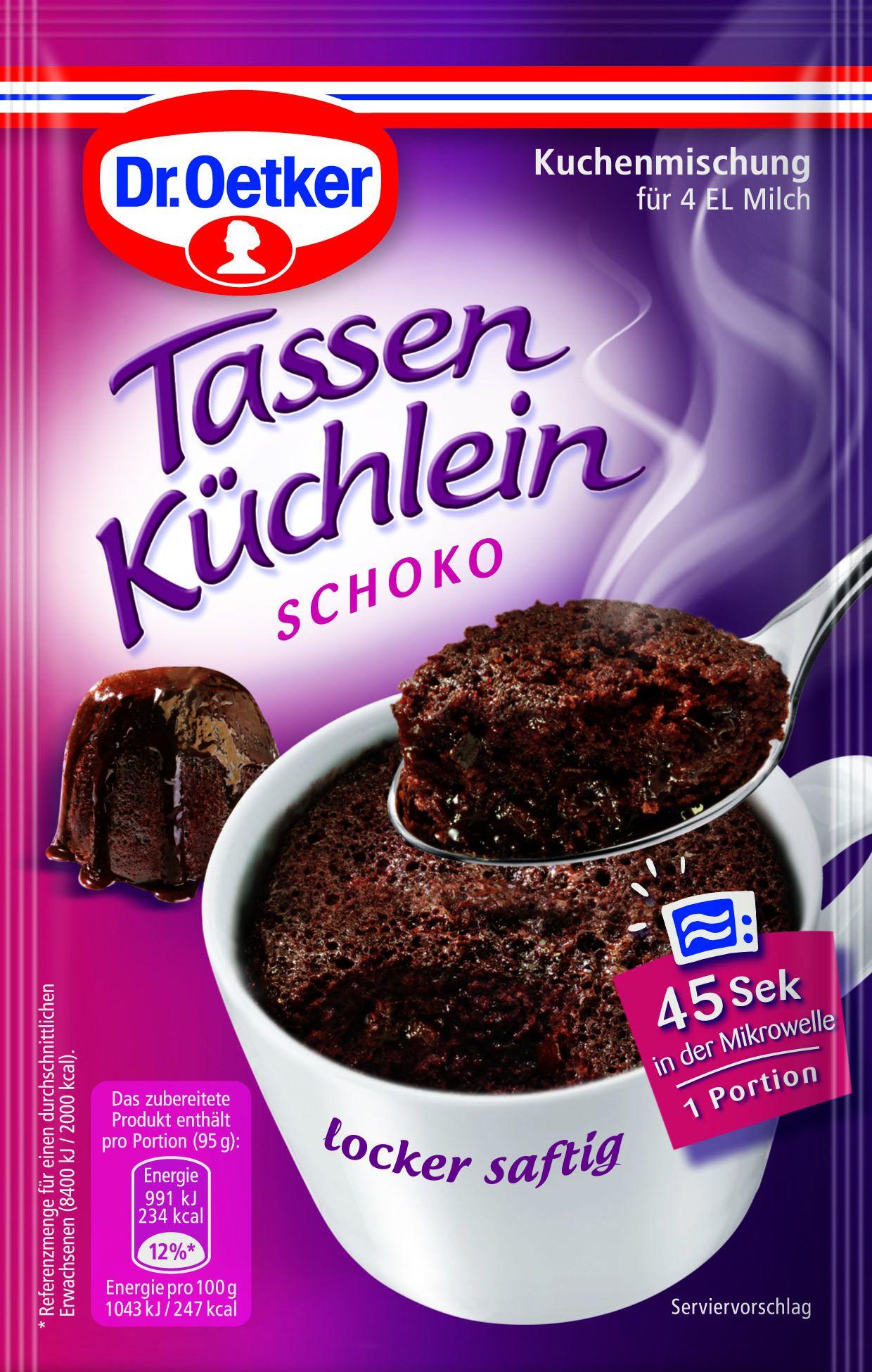 Dr Oetker Tassen Kuchlein Schoko Kjero Com