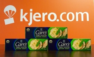 Carr's Table Water Crackers with Sesame Seeds im Kjero Test