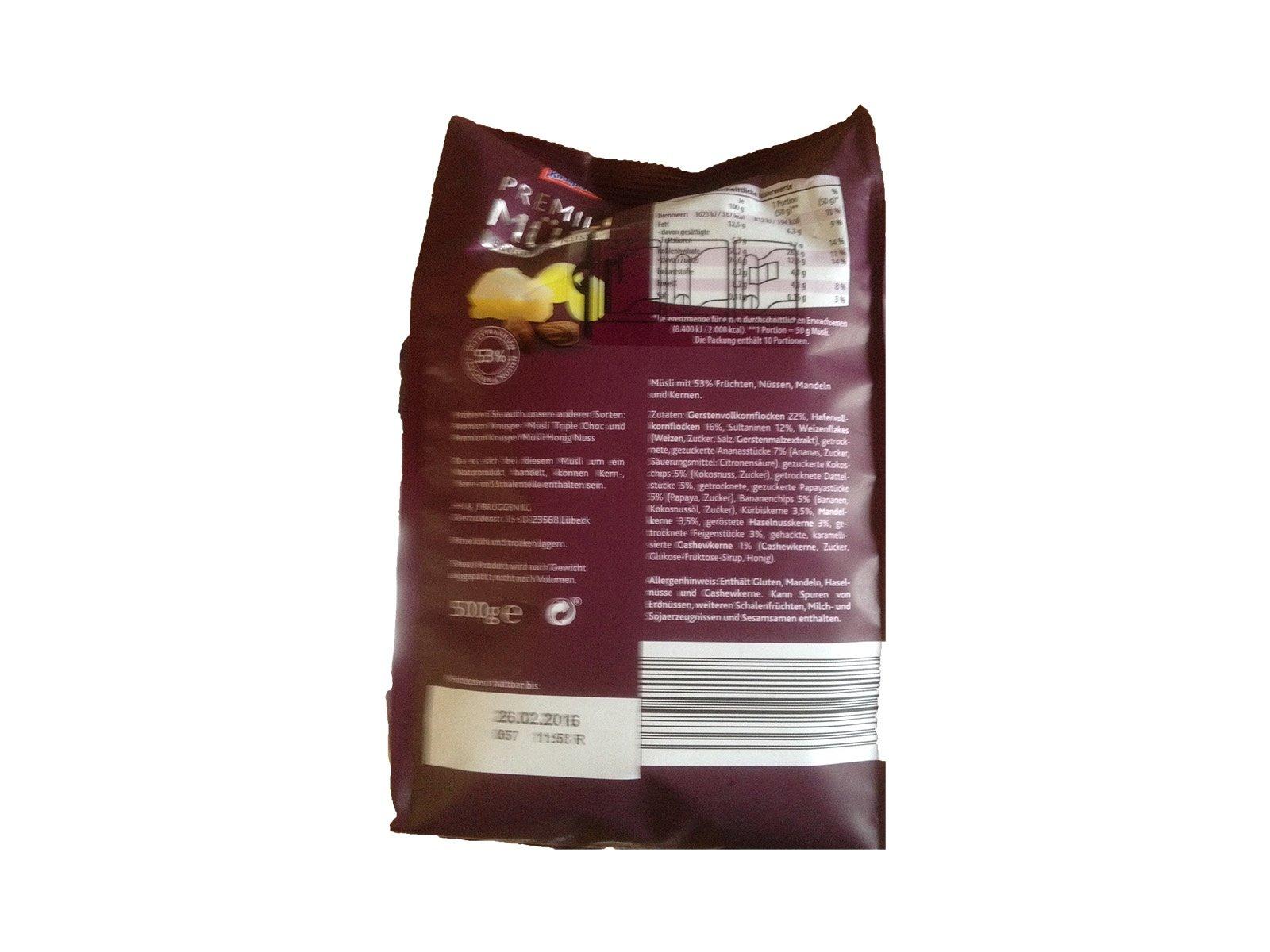 Knusperone Premium Müsli Früchte & Nüsse