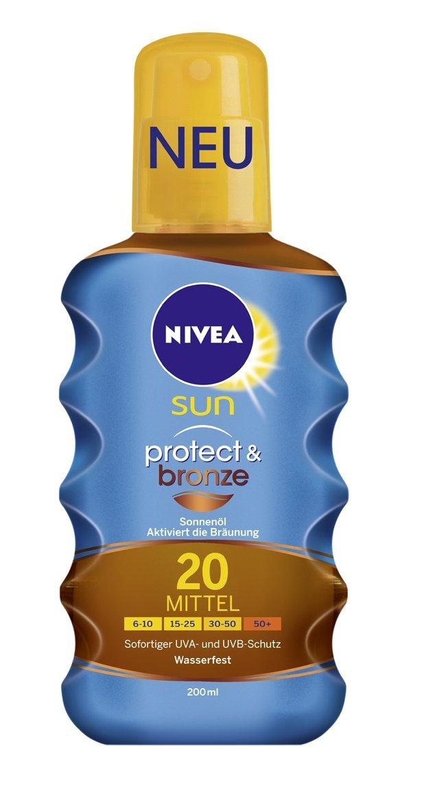 nivea sun protect bronze l spray. Black Bedroom Furniture Sets. Home Design Ideas