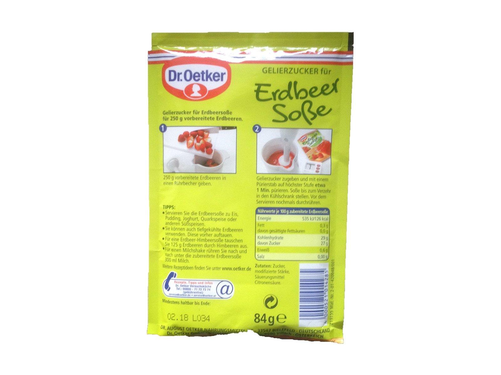 Dr. Oetker Gelierzucker für Erdbeersauce