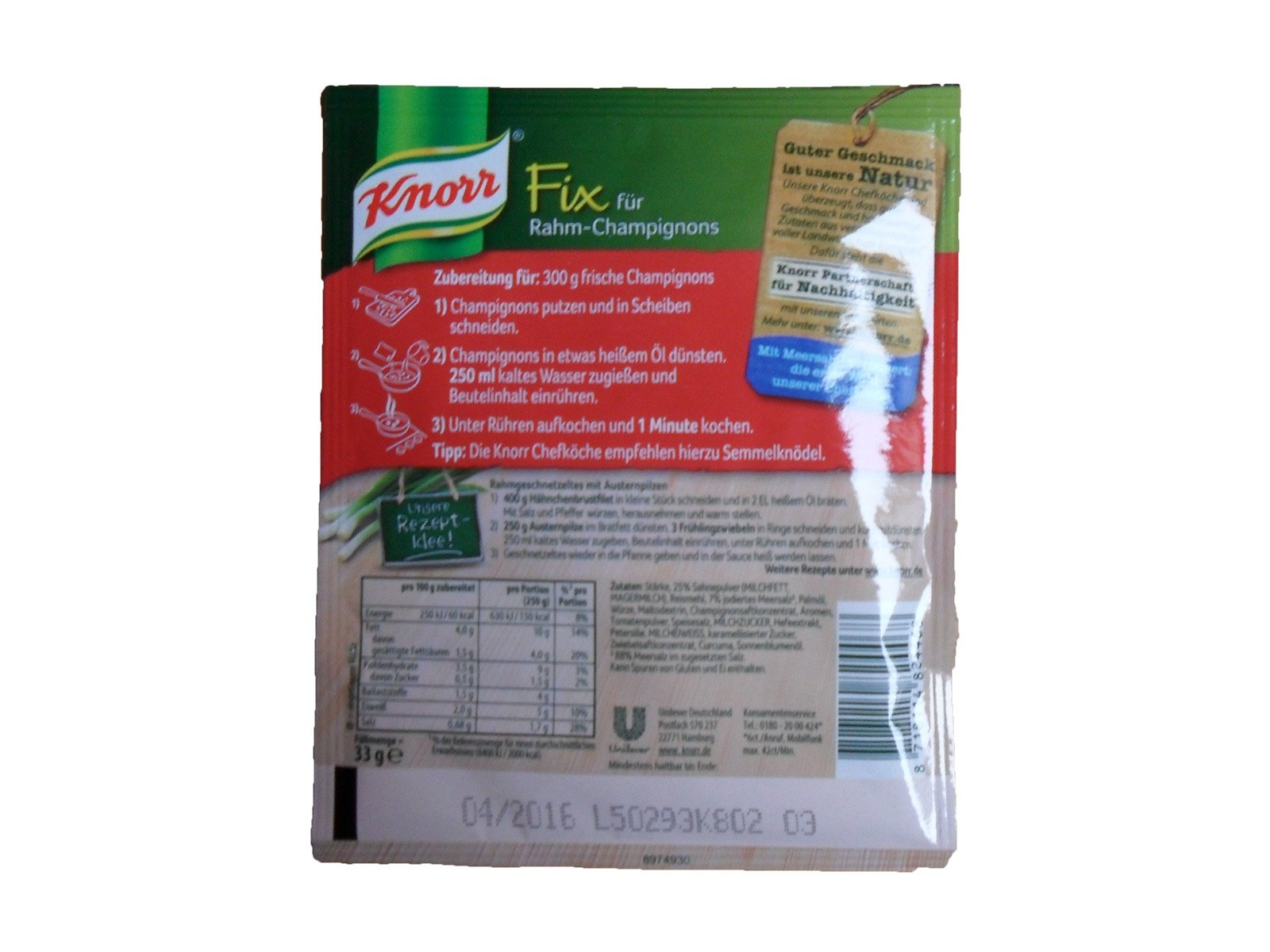 Knorr Fix für Rahm Champignons