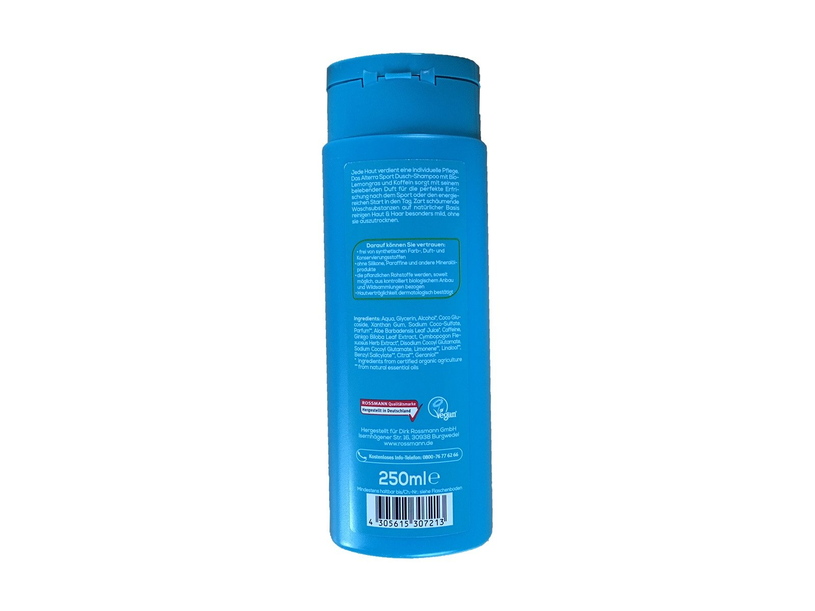 Alterra 2 in 1 Sport Dusch-Shampoo Koffein und Bio-Lemongras