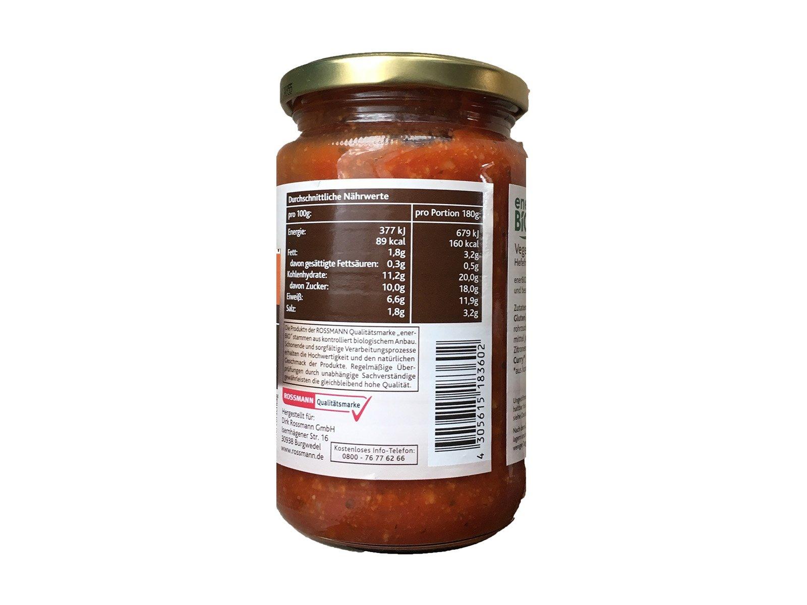 EnerBio Vegetarische Bolognese