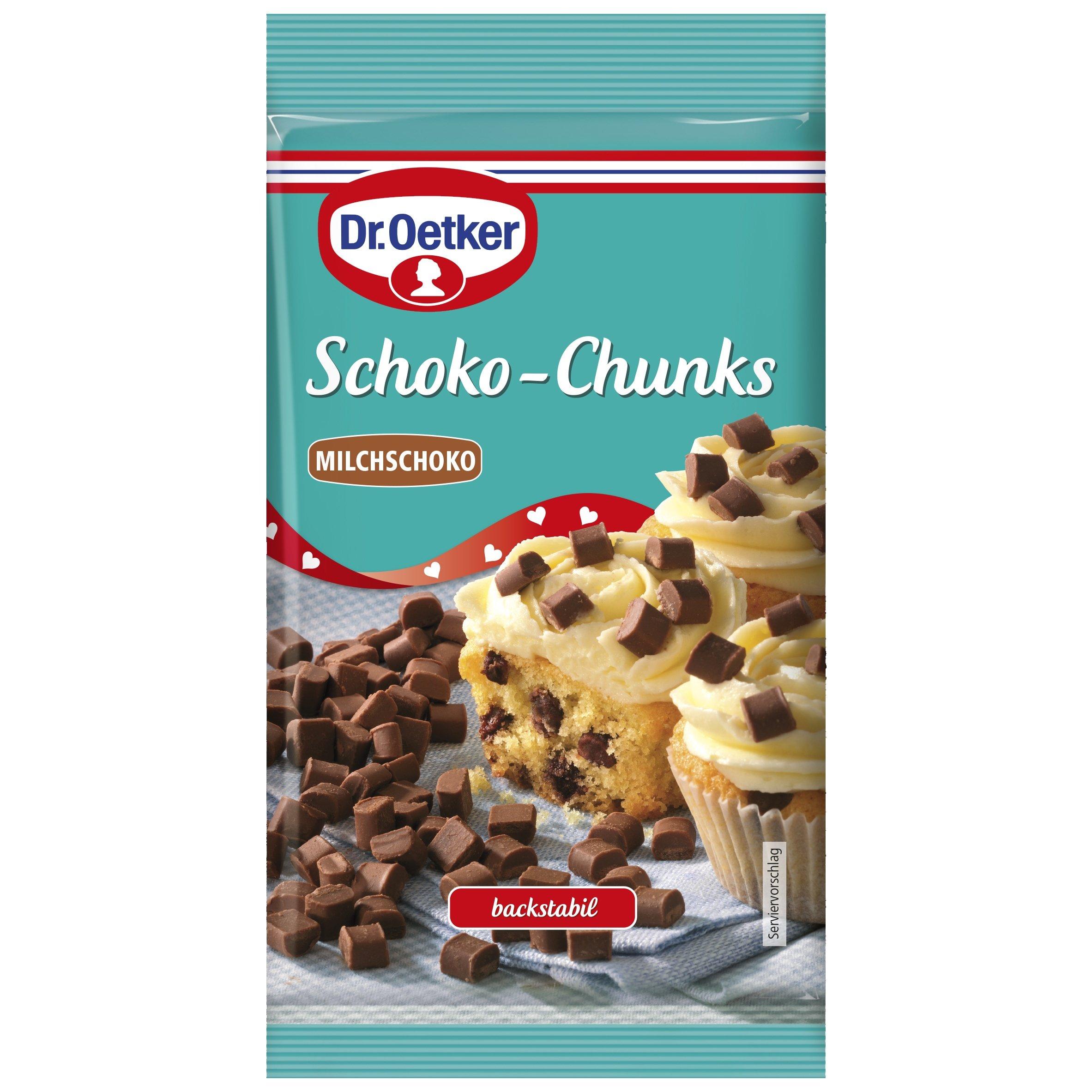 Dr. Oetker Schokolade Chunks Milchschokolade