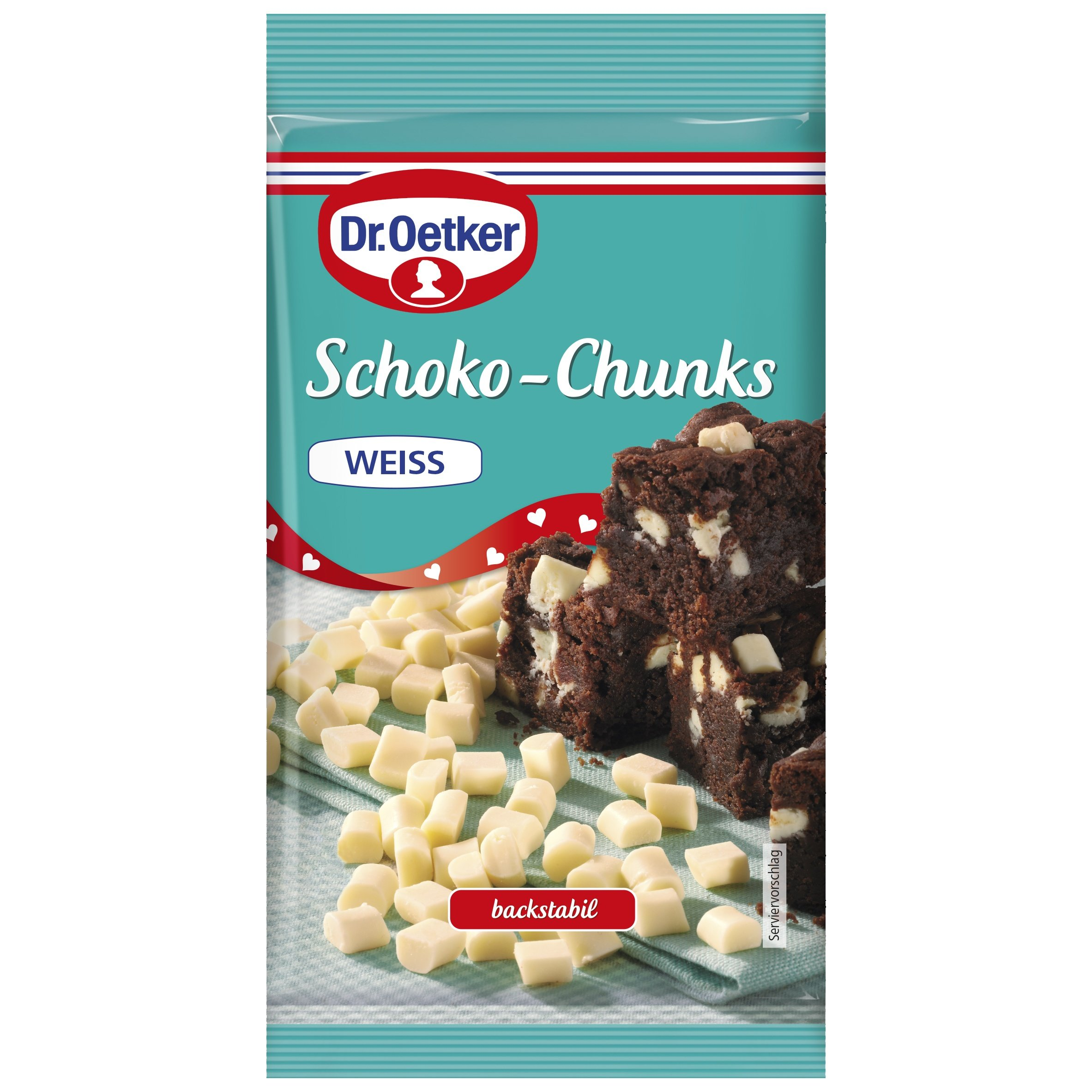 Dr. Oetker Schokolade Chunks Weiße Schokolade