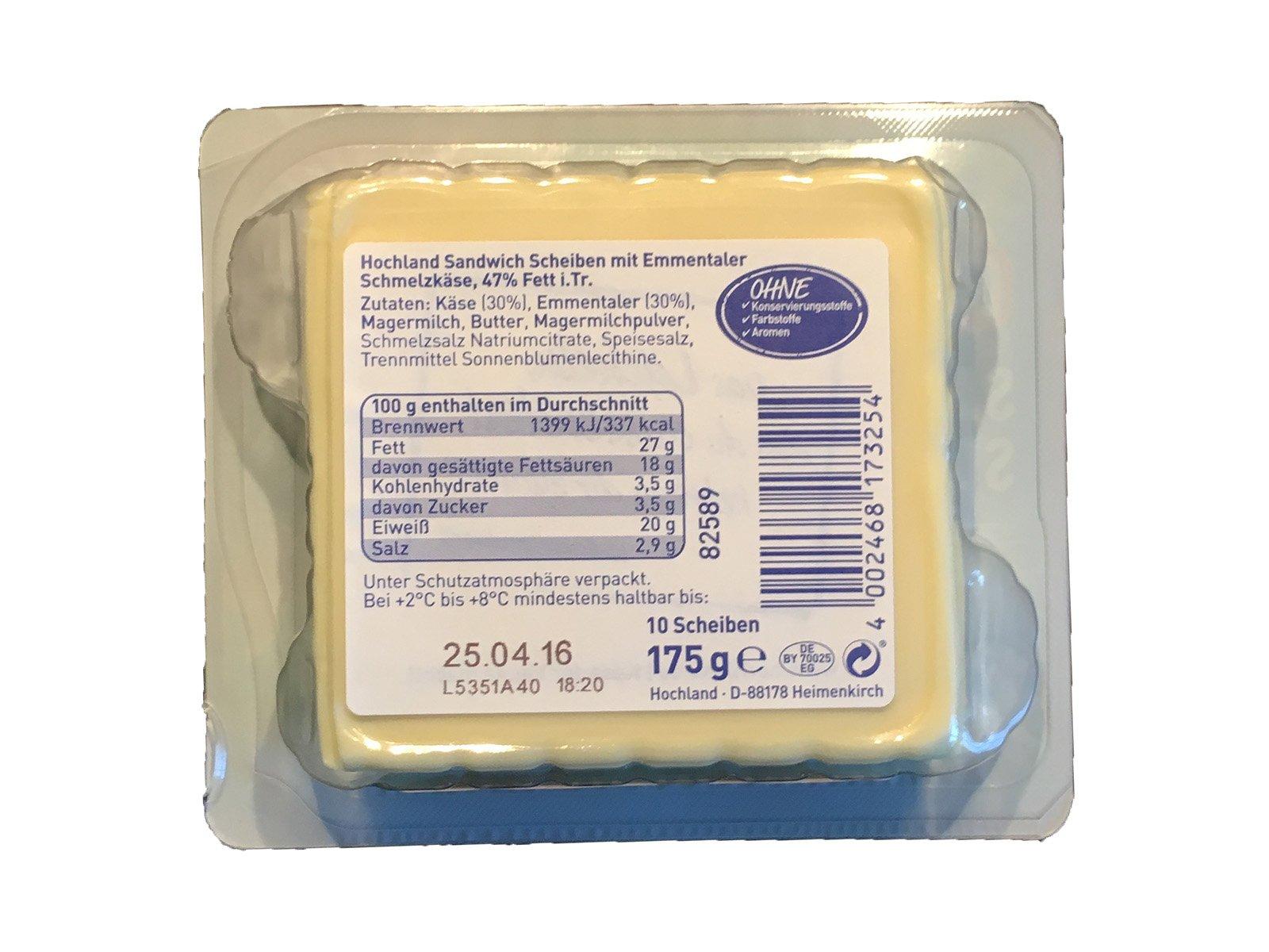 Hochland Sandwich Scheiben Emmentaler