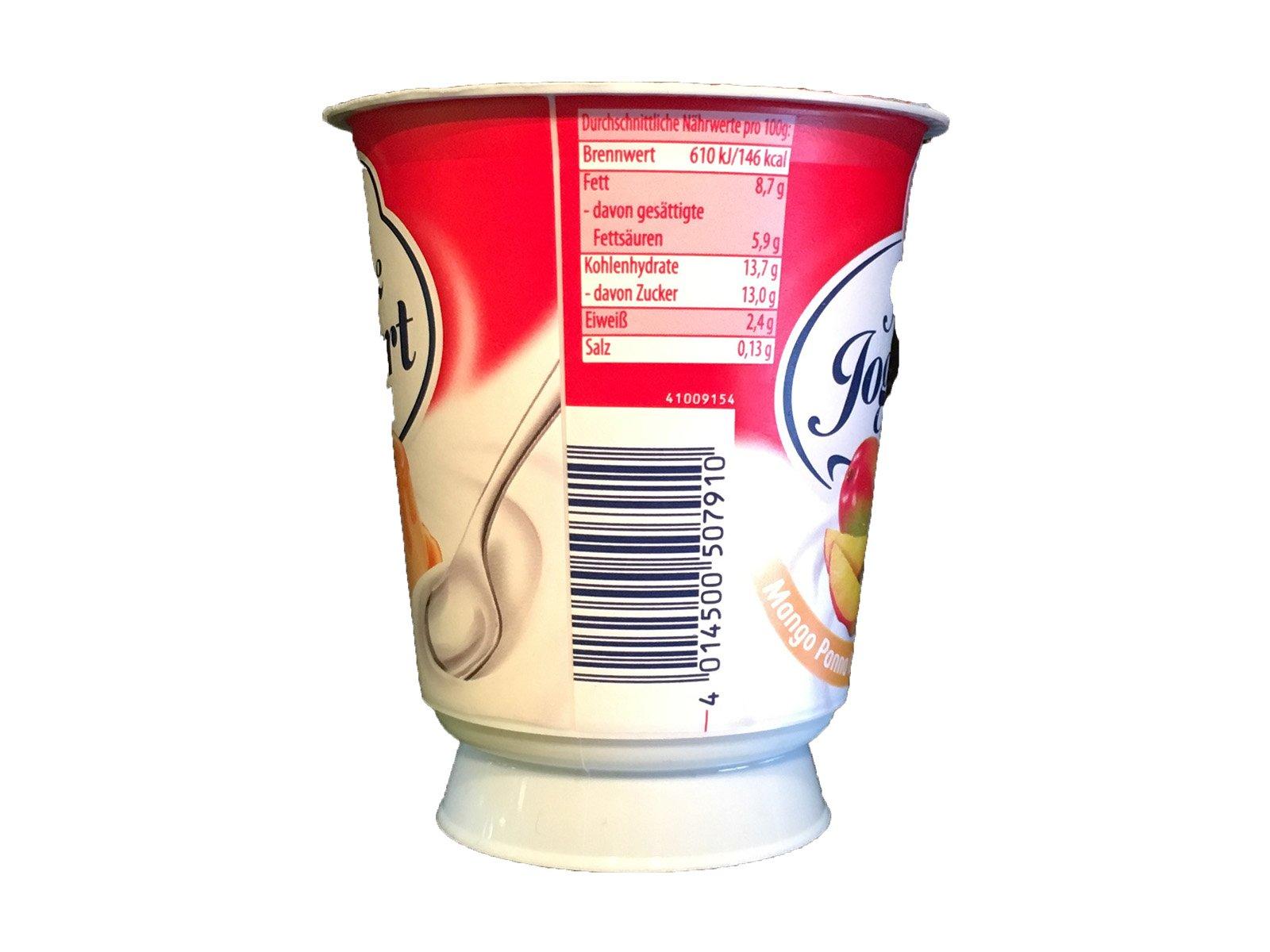 Zott Sahne Joghurt Mango Panna Cotta