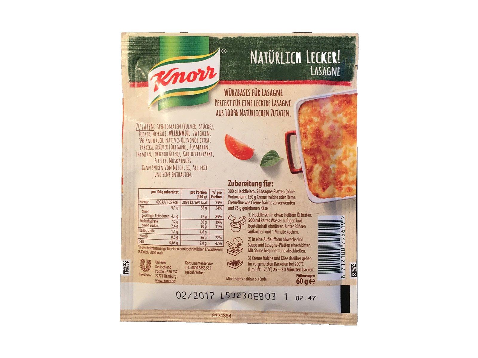 Knorr Natürlich Lecker Lasagne