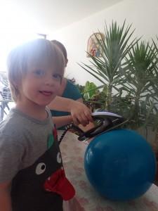 Unser Luftballon-Bügelbild