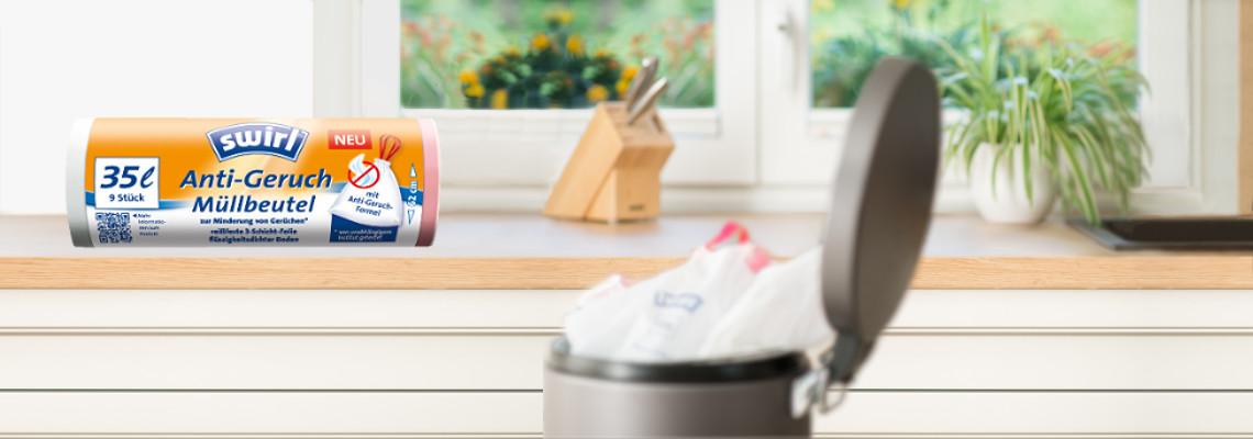 Swirl® Anti-Geruch-Müllbeutel Test