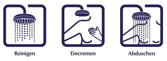 Eucerin In der Dusche Anleitung