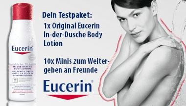 Eucerin In-der-Dusche Body Lotion im kjero.com Test - Dein kostenloses Testpaket